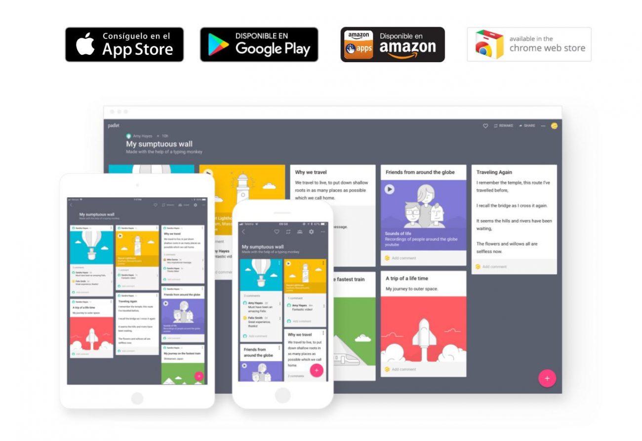 Padlet para docentes y su uso como pizarra colaborativa en la educación virtual