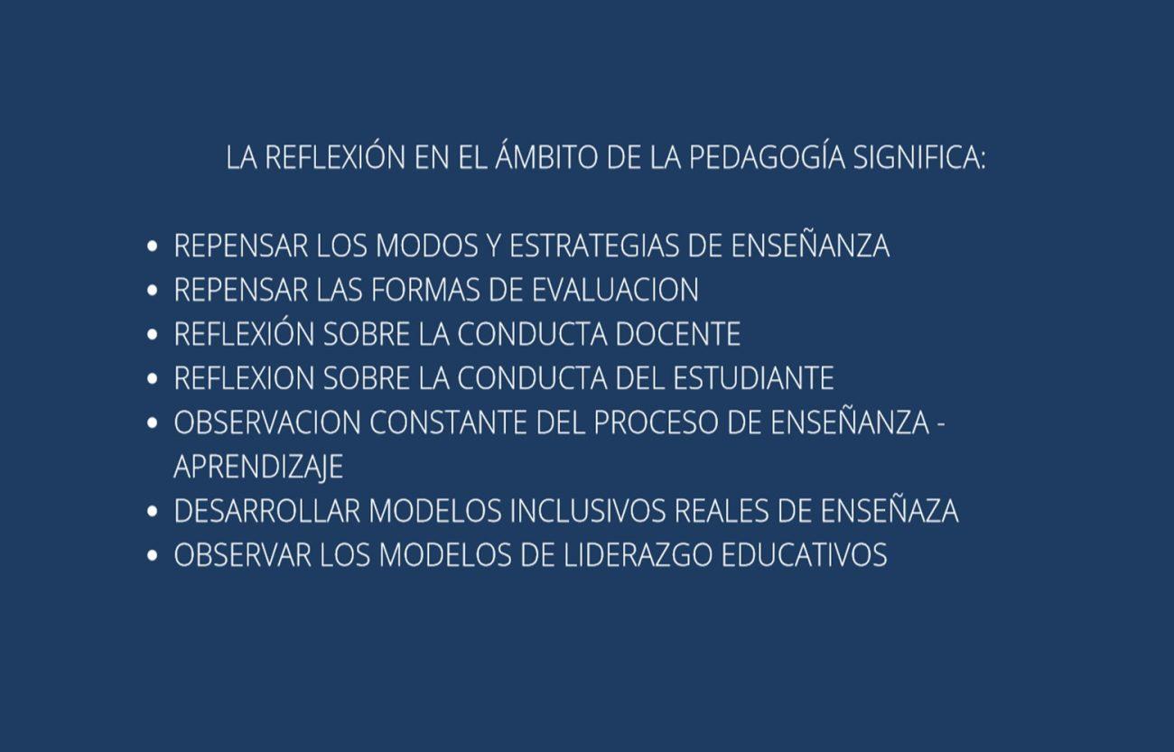 Informe de la jornada de reflexión pedagógica docente